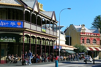 South Terrace. Fremantle's economy rides  on the back of a coffee bean.  © Roger Garwood 2013